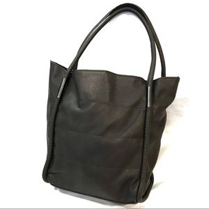 NWOT Neiman Marcus grey leather tote